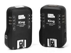 PIXEL King For Nikon Wireless TTL Flash Trigger by Pixel. $120.00. Package Included: KING Transmitter x1,  KING Receiver x1,  PC to 3.5mm studio flash cable x1,  PC to 6.35mm studio flash cable x1,  USB cable x1,  SF-18 Flash Stand Holder x1,   Receiver holding mount x1(The holding mount is for studio lamp. It has double tape sticker),  Protector Soft Case x1,  English User Manual x1(Original Manufactory Package).. Save 20% Off!