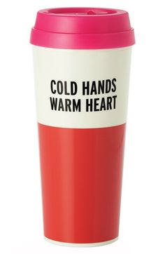 Chic Gifts: Cold Hands Warm Heart Thermal Travel Mug