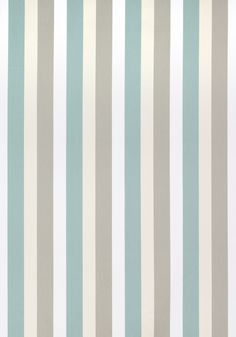 Thibaut Jayanti Stripe Aqua and Flax Fabric - - Caravan Collection