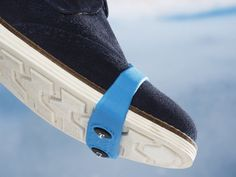 These ice cleats, discovered by The Grommet, are grips for your shoes that make walking on snow and ice safer. Just pull on over the toe of your shoes.