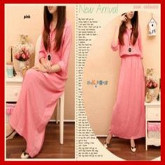 Model Gaun Remaja maxi dress Muslimah S376