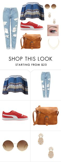 #23 women in Town by ndreamcatcher on Polyvore featuring mode, Topshop, Puma, Lana, Sole Society and Victoria Beckham