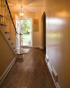 Revestimiento de suelo de gres porcel nico imitaci n - Peldanos escalera imitacion madera ...