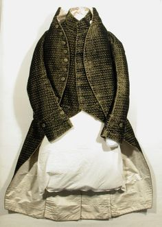 Coat  National Trust Inventory Number 1348799.1 Date1790 - 1800 MaterialsBrocade, Silk satin, Velvet CollectionSnowshill Wade Costume Collection, Gloucestershire (Accredited Museum)