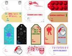 Free Printable Christmas Gift Tags! Plus 50% off Vistaprint Holiday Cards! http://couponscurator.com/free-printable-christmas-gift-tags