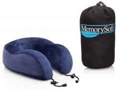 #10. MemorySoft Memory Foam Travel Neck Pillow