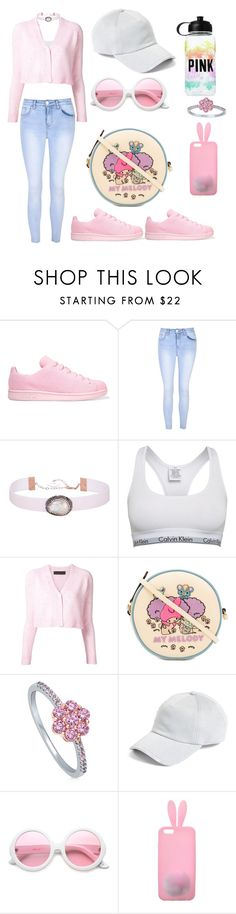 """""""Untitled #847"""" by dbellz ❤ liked on Polyvore featuring adidas Originals, Glamorous, Soru Jewellery, Calvin Klein, The Elder Statesman, Olympia Le-Tan, BERRICLE, rag & bone, ZeroUV and Victoria's Secret"""