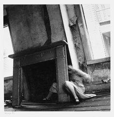 Francesca Woodman House Providence, Rhode Island, 1976 Gelatin silver print, x cm Courtesy George and Betty Woodman Francesca Woodman, Ansel Adams, Lower East Side, Selfies, Duane Michals, Yves Klein, Between Two Worlds, Providence Rhode Island, Gelatin Silver Print