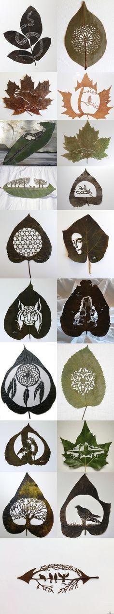 Lorenzo Duran tekee puunlehdistä taidetta