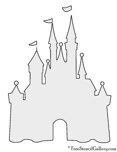 Disney Castle Stencil â. Disney Castle Stencil … Disney Castle Outline, Disney Castle Silhouette, Disney Castle Drawing, Drawing Disney, Disney Castle Tattoo, Disney Home, Walt Disney, Disney Art Diy, Disney Diy Shirts