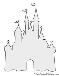 Disney Castle Stencil                                                       …