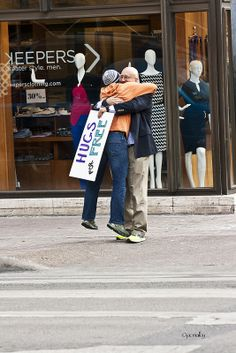 Free Hugs Day. Austin, Texas