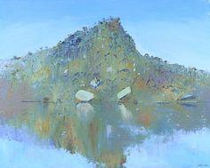 Arthur Boyd - Four Times of Day, Midday, Pulpit Rock 1983 Pastel Landscape, Abstract Landscape, Landscape Paintings, Landscapes, Australian Painting, Australian Artists, Arthur Boyd, Artist Art, Love Art