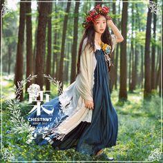 Mori girl clothes (c) dearli Mode Mori, Forest Fashion, Bohemian Style, Boho, Mori Girl Fashion, Forest Girl, Japanese Street Fashion, Girl Inspiration, Feminine