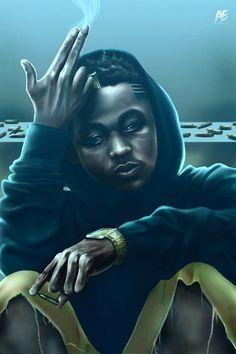"""Kendrick Lamar"" illustration by Alvin Epps www.alvinepps.com"
