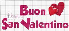 buon San Valentino - schema punto croce
