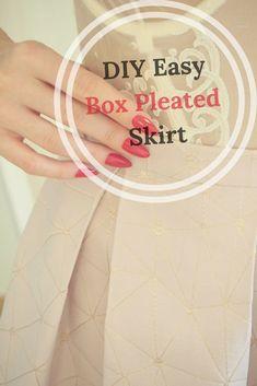 DIY Easy Box Pleated Skirt