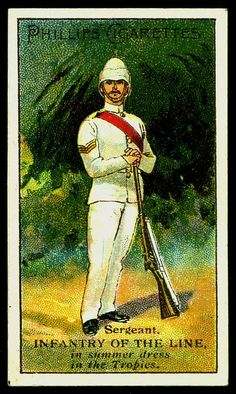Cigarette Card - Infantry of the Line