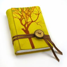 yellow notebook with a tree #notebook #diary #stationery #notizbuch #tagebuch #papier #notizbuchblog