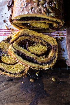 Chocolate Cinnamon Swirl Pumpkin Brioche Bread   halfbakedharvest.com @hbharvest