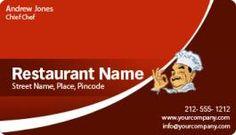 Restaurant Business Cards Magnets 2x3.5 Round Corner