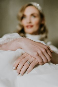 The bohemian bride wears our Art Deco platinum and diamond engagement ring in this elegant wedding inspirational shoot. The ring also has a three step diamond set band. Photography: @quaintlyphotography; Dress: @ouimadam1 #engagementringshattongarden #bohemianwedding #diamondengagementring #artdecoengagementring #vintagestyle Engagement Rings On Finger, Deco Engagement Ring, Art Deco Diamond Rings, Diamond Art, Dramatic Arts, Alternative Metal, Band Photography, Vintage Style Rings, Bohemian Bride