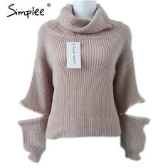 #aliexpress, #fashion, #outfit, #apparel, #shoes #aliexpress, #Simplee, #Turtleneck, #zipper, #sleeve, #knitted, #sweater, #women, #autumn, #winter, #Fashion, #tricot, #short, #pullover, #jumper