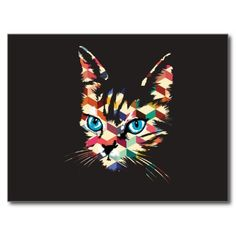 POP ART CAT POST CARDS