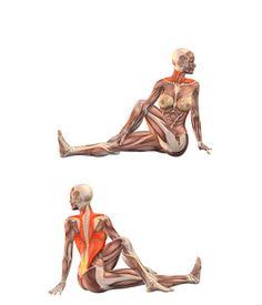 #MARICHYASANA Left twist with left leg bent | YOGA.com