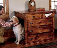Hidden Dog Crate Furniture - Dog : Gallery of Awesomeness