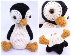 Pingvinen Pingu - den er da for kært! Love Crochet, Crochet For Kids, Diy Crochet, Crochet Crafts, Crochet Dolls, Crochet Projects, Freeform Crochet, Pattern Library, Knitting For Kids