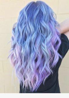 Blue and Purple Hair Color Ideas Blaue und lila Haarfarbe Ideen Cute Hair Colors, Hair Dye Colors, Cool Hair Color, Dark Purple Hair, Hair Color Purple, Color Blue, Smokey Blue Hair, Pink Purple Blue Hair, Lavender Colour