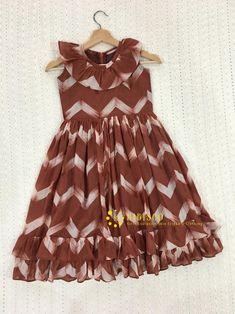 Cotton Frocks For Kids, Frocks For Girls, Toddler Girl Dresses, Girls Dresses Sewing, Frock Patterns, Baby Girl Dress Patterns, Baby Frock Pattern, Kids Dress Wear, Kids Gown