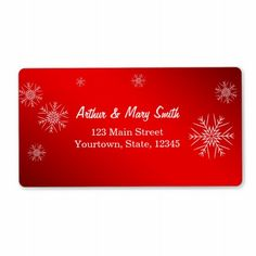 Happy holiday on red background personalized shipping labels