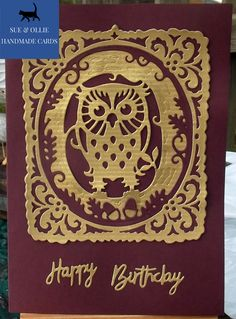 Gold Paper, Wax Paper, Gold Birthday, Etsy Uk, Card Maker, Happy Birthday Cards, Greeting Cards Handmade, Homemade Cards, Etsy Store