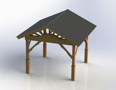 Gazebo with Hip Roof Building Plans - DIY Backyard Diy Gazebo, Hot Tub Gazebo, Gazebo Plans, Patio Gazebo, Pergola Canopy, Pergola Swing, Pergola Shade, Pergola Kits, Pergola Ideas