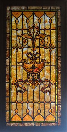 Antique American Stained Glass Windows This window is somewhat similar to what was in my childhood home. c 1930