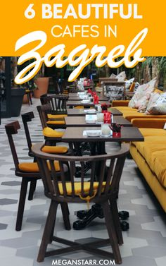 There is no shortage of beautiful and photogenic cafes in Zagreb, Croatia. This is a guide to six of the most Instagram-worthy to visit on your next trip! Map included!