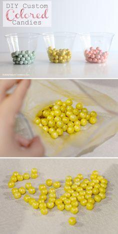DIY Custom Colored Candies