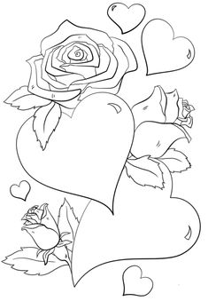 Coloring Pictures Of Hearts And Roses Hearts And Roses Coloring Page Free Printable Coloring Pages Pin On Valentines Day Coloring Pages Hearts Roses Coloring Pages Heart Rose Hearts And Roses Rose Coloring Pages, Shape Coloring Pages, Skull Coloring Pages, Valentine Coloring Pages, Printable Adult Coloring Pages, Coloring Pages For Kids, Free Coloring, Coloring Books, Cartoon Coloring Pages