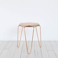 THE WOOD COLLECTOR | Klein GemCopper Stool with Natural Top by TUCKBOX