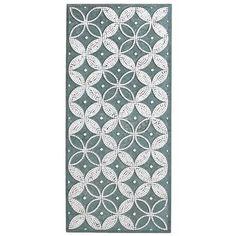 Mirrored Geometric Wall Panel - Aqua