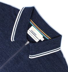 Fred Perry Bradley Wiggins Vintage Navy Checkerboard Knitted Cotton Polo Shirt