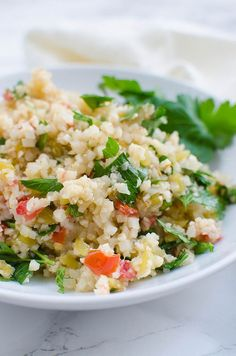 Mexican Cauliflower Rice - a low calorie way to enjoy Mexican rice! So easy to make!