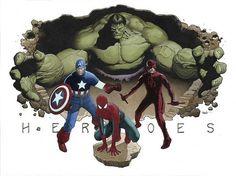 Travis Charest - Marvel Heroes