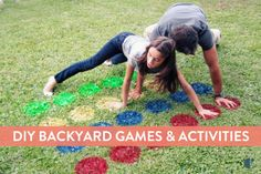 Games are so much fun, especially when you can play them outside! Easily create an outdoor twister mat on your lawn with spray paint. Who said twister was for kids only? This is the perfect activity for a summer party with adults, as well! Outdoor Twister, Outdoor Fun, Twister Game, Outdoor Games, Outdoor Parties, Outdoor Activities, Messy Twister, Infant Activities