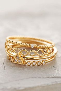 Janina Stacked Rings - #anthroregistry