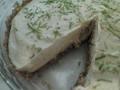 Key Lime N-ice Cream Pie, next time I will make my crust pretty!!