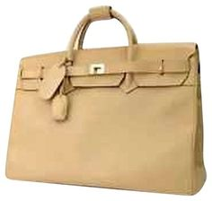 aa1adc5148bea3 Gucci Birken Style Large Leather Carry-all Beige Travel Bag 78% off retail