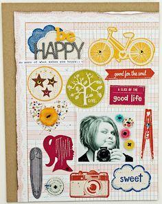#papercraft #scrapbook #layout    Melissa Mann